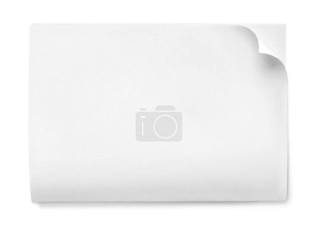 Photo for Paper page white blank isolated blank page empty - Royalty Free Image