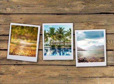 Foto de Fotos instantáneas en el fondo, de cerca - Imagen libre de derechos