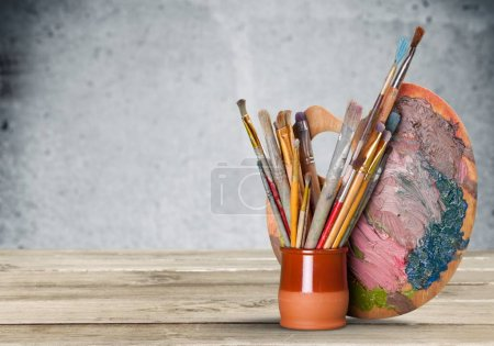 Photo for Different Artist brushes close-up view - Royalty Free Image