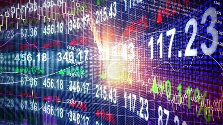 Photo pour Marché boursier forex trading graphique et chandelier graphique ou convenant au concept d'investissement financier. Fond de tendances de l'économie pour idée d'entreprise et de tout art travaillent design. Fond Abstrait Finances. - image libre de droit