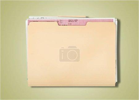 Photo for Yellow file folder isolated on background - Royalty Free Image