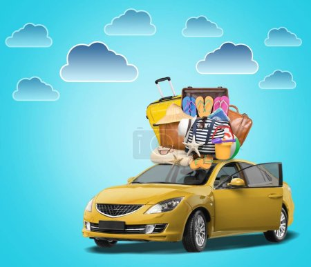 Photo for Car with baggage, travel concept - Royalty Free Image