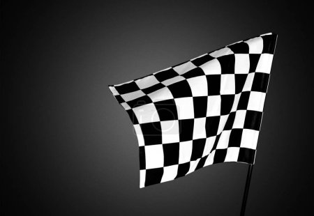 Photo for Checkered waving flag on background. - Royalty Free Image