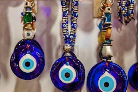 Photo pour Groupe d'Amulette traditionnelle turque Evil Eye - Le fond d'oeil bleu - image libre de droit