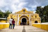 El Calvario entrance in Antigua, Guatemala