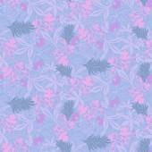 """Постер, картина, фотообои """"Пастель цветные бесшовные обои тропических листьев и цветов цвет розовый Неон. Плоский стиль"""""""