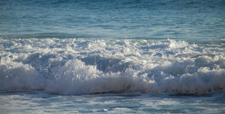 Photo for Blue wave ocean background wallpaper - Royalty Free Image