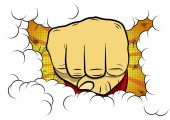 Vector illustrated comic book style cartoon clenched fist