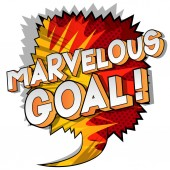 Marvelous Goal! - Vector illustrated comic book style phrase on abstract background