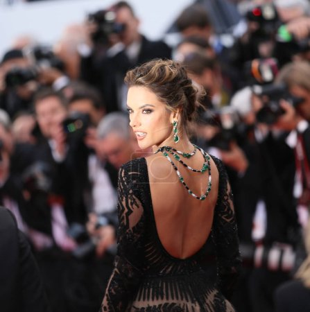 Photo for Alessandra Ambrosio attends the screening of 'BlacKkKlansman' during the 71st annual Cannes Film Festival at Palais des Festivals on May 14, 2018 in Cannes, France. - Royalty Free Image