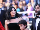 Khaled Mouzanar,  Nadine Labaki and Zain Alrafeea attend the screening of'Capharnaum' during the 71st annual Cannes Film Festival at Palais des Festivals on May 17, 2018 in Cannes, France.