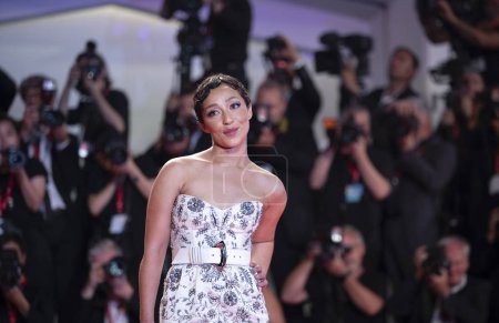 Photo for Ruth Negga attends the red carpet of AD ASTRA during the 76th Venice Film Festival on August 29, 2019 in Venice, Italy. - Royalty Free Image