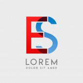 ES logo letters with