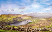 Landscape with Glanmore lake.Freshwater lake in the southwest of Ireland. It is located on the Beara Peninsula in County Kerry