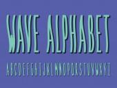 Wave font Vector alphabet