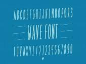 Wave Italic font Vector