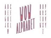 Wow font  Vector alphabet