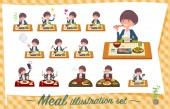 A set of women about mealsJapanese and Chinese cuisine Western style dishes and so onIt's vector art so it's easy to edit