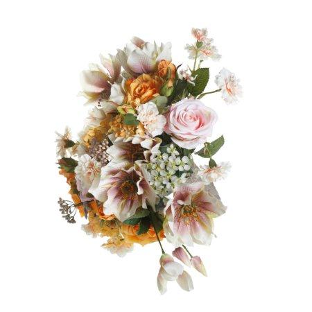 Photo pour Beau bouquet dans des tons doux isolé sur fond blanc . - image libre de droit