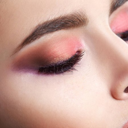 Photo for Close up of beautiful woman closed eye with makeup - Royalty Free Image
