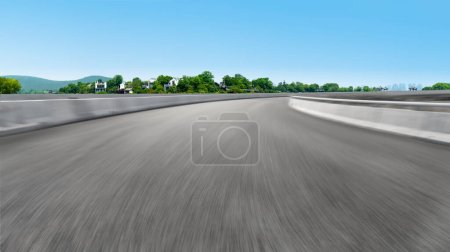 Photo pour Pavé routier et paysage naturel de paysage - image libre de droit
