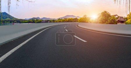 Photo pour Paysage naturel de la route et Paysage Scène - image libre de droit