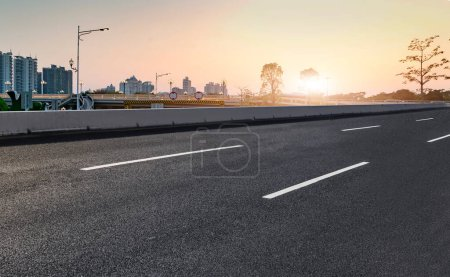 Photo for Air highway asphalt road and office building of commercial build - Royalty Free Image