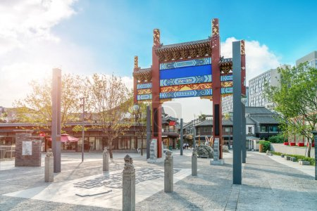 Photo for The Beautiful Landscape and Architectural Landscape of Daming La - Royalty Free Image