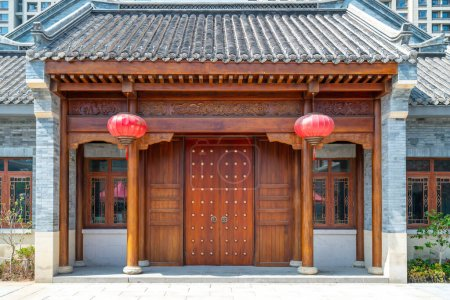 Photo for Siheyuan Villa District of Traditional Chinese Architecture - Royalty Free Image