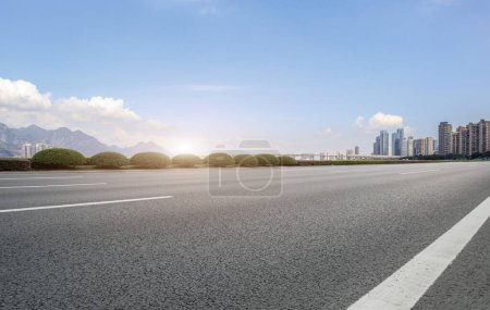 Photo for Urban road and urban architectural landscape - Royalty Free Image