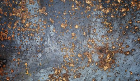 Photo for The texture is metallic. Industrial background from an old rusty metal. Textured metal background with rust cracks. - Royalty Free Image