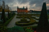 Frederiksborg Palace is a palace in Hillerod, Denmark. It was built as a royal residence for King Christian IV