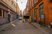 MALMO, SWEDEN: Beautiful houses on the street in the center of Malmo