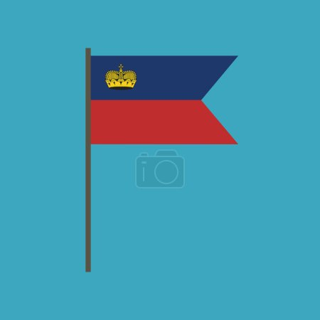 Liechtenstein flag icon in flat design. Independence day or National day holiday concept.