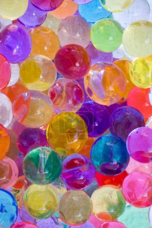 Shiny water gel balls. Abstract background....