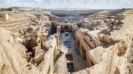 The Osirion temple at Abydos, Egypt....