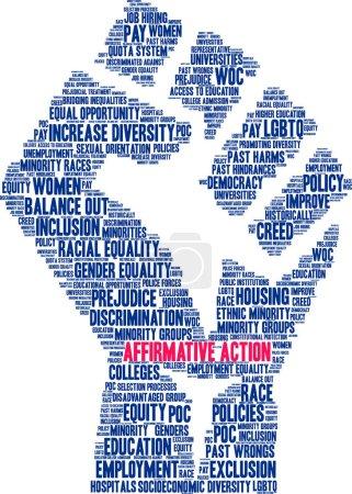 Photo pour Action positive nuage de mots sur un fond blanc . - image libre de droit