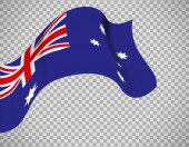 Australia flag on transparent background