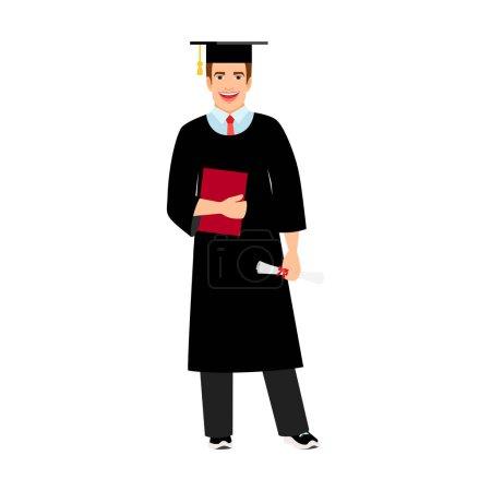 University male student graduate icon