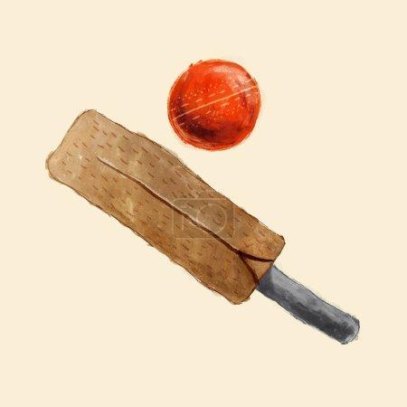 Traditional wood cricket bat and