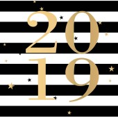 Vector fashion 2019 with black stripes