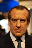 New York, USA - April 30, 2018: Richard Nixon in Madame Tussauds of New York