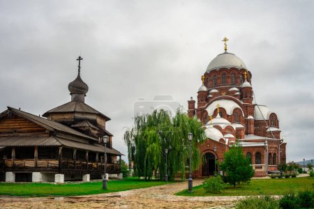 Trinity Church and the Cathedral of Our Lady of Joy of All Who Sorrow. Tatarstan. Russia.