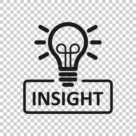 Photo for Insight icon in transparent style. Bulb vector illustration on isolated background. Idea business concept. - Royalty Free Image