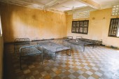 Prison of the Khmer Rouge high school S-21 turned into a torture and execution center.