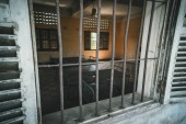 Prison Cell of S21 the notorious torture prison by khmer rouge at Phnom Penh on Cambodia
