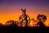 Roger Kangaroo bodybuilder sculpture