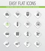 Industry flat vector icons for user interface design