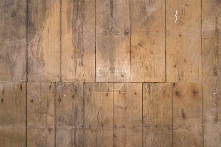 Photo for Old wooden floor with vertical boards - Royalty Free Image