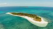 Beautiful beach on a tropical island. Balabac, Palawan, Philippines.